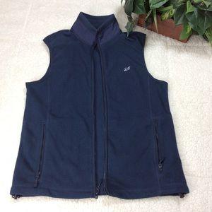 Martha's Vineyard Vine Navy Blue Fleece Vest Sz Sm